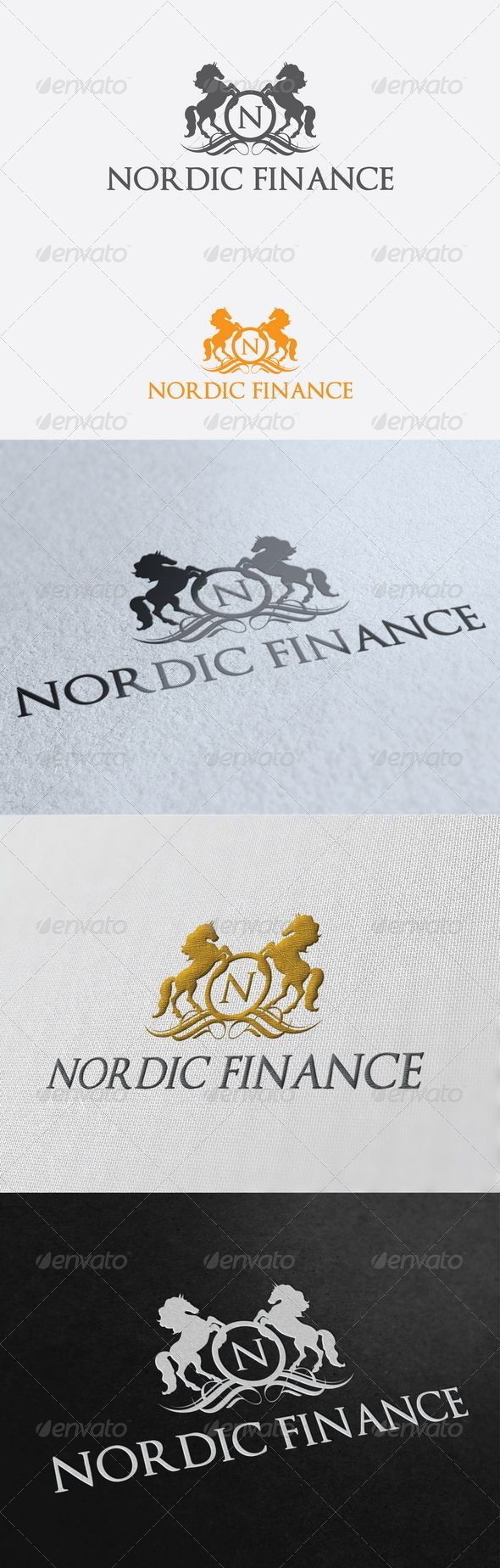 Nordic Finance Logo Template 57 best Logo