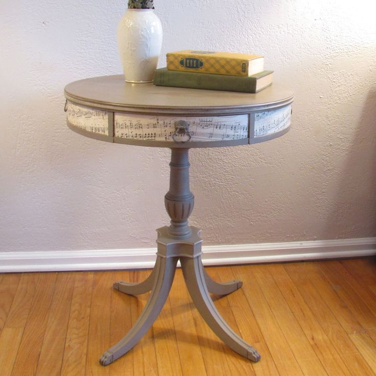 Musical side table end tables side tables console for Coffee table craft ideas