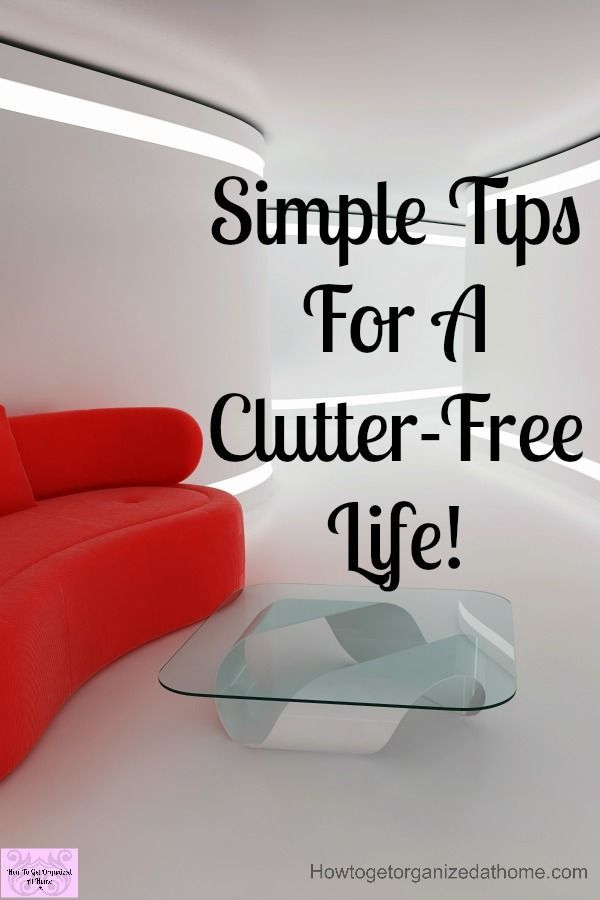Do you need tips to help you declutter your home and life? Getting a clutter-free home is always something you have to work on, it doesn't just happen! Clearing the clutter not only saves you money it also makes life and cleaning so much easier! #clutter #clutterfree #declutter