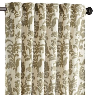 pier 1 scroll window curtain olive green