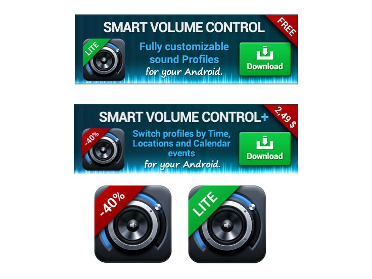 Banners - Smart Volume Control by Petr | Direct-services