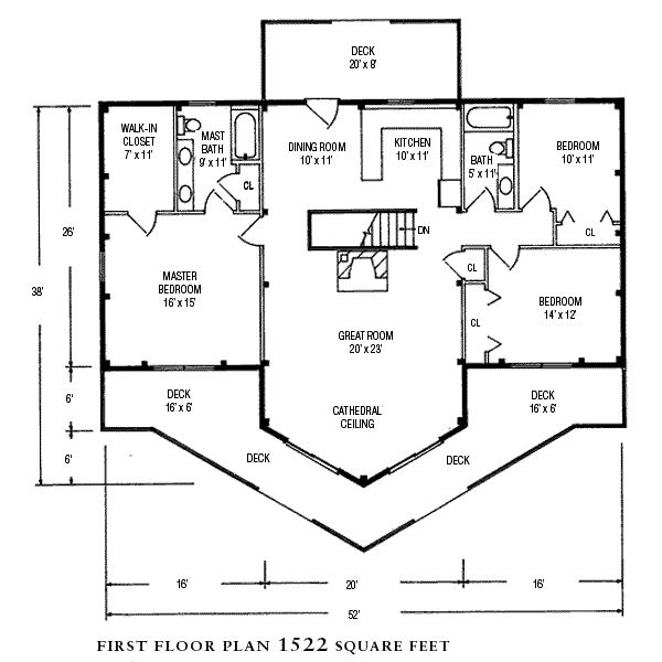 24 best house plans images on pinterest architecture for Open concept post and beam house plans