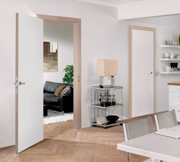 Flush Non Rebated Pure White Finish Door With Harmony