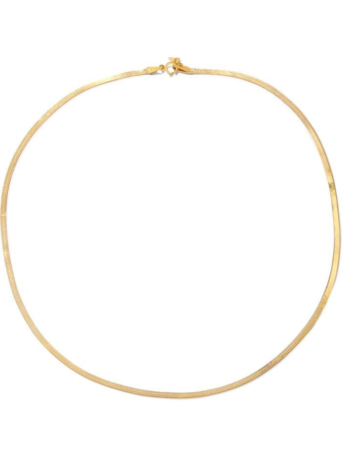 Loren Stewart Herringbone 10 Karat Gold Necklace Herringbone Necklace Gold Necklace Cool Style