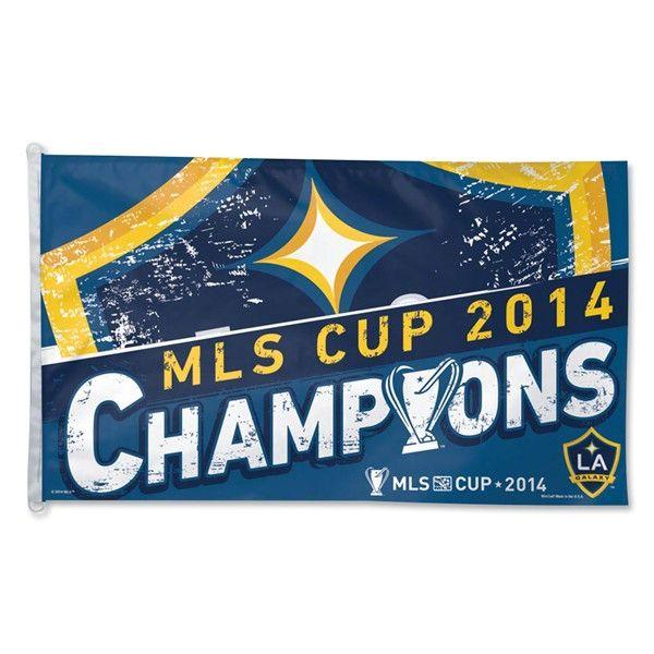 Los Angeles LA Galaxy MLS Cup 2014 Champions WinCraft Blue Yellow Flag (3' x 5')