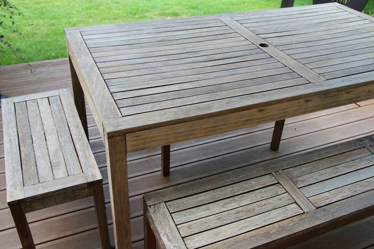 Rénover une table de jardin en bois | Wonderful Breizh | Mobilier de ...