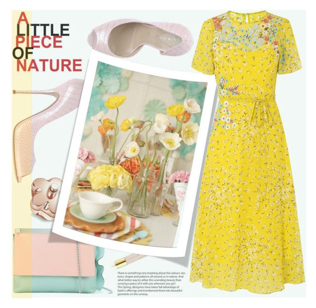 """""""In La La Land: Yellow Dresses"""" by joliedy ❤ liked on Polyvore featuring Casadei, Manurina, AERIN and L.K.Bennett"""