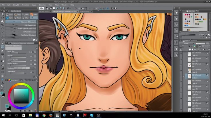 Timelapse digital painting - BOOK 2 Cover Page [Tales of Midgard webcomi...