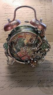 KittysScrapPost: Steampunk Altered Alarm Clock