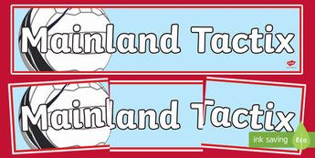 Mainland Tactix Netball Display Banner