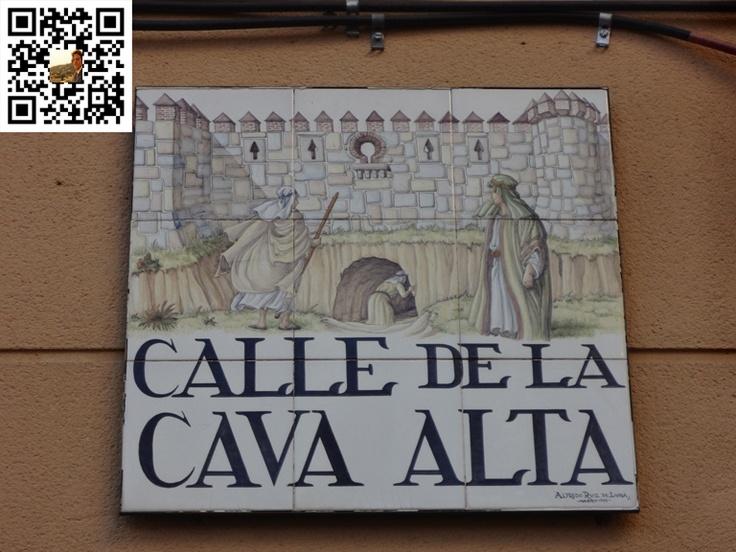 Calle de la Cava Alta de la Ciudad de Madrid en España