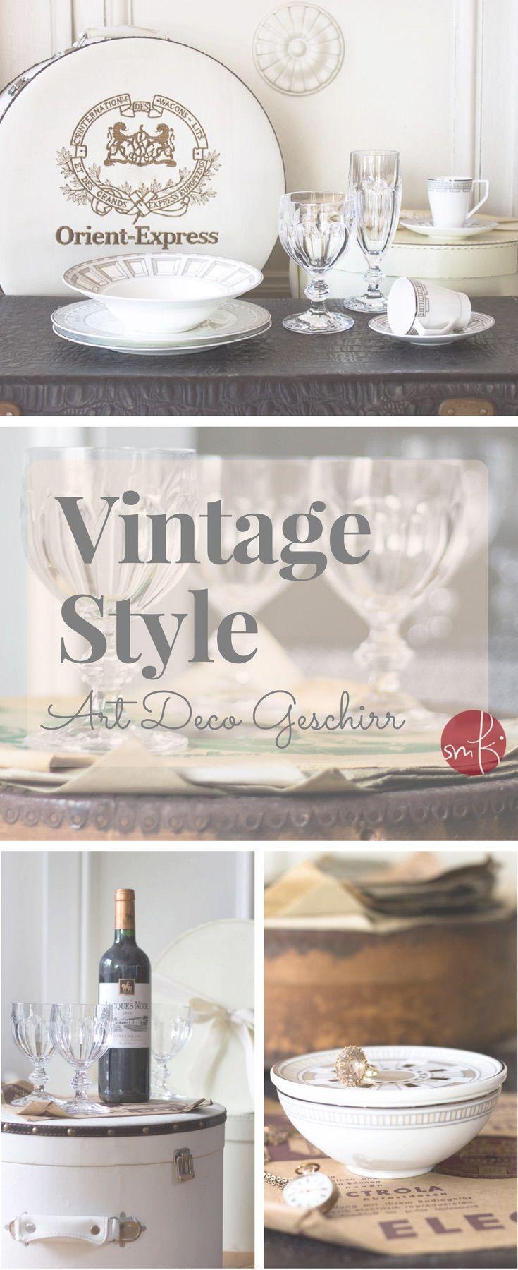 Art Deco Geschirr im Stil der 20er Jahre. Grafisch schlicht und einfach schön!