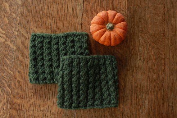 Olive green boot cuffs  handknit boot cuffs  by SoppyKnitsStuff