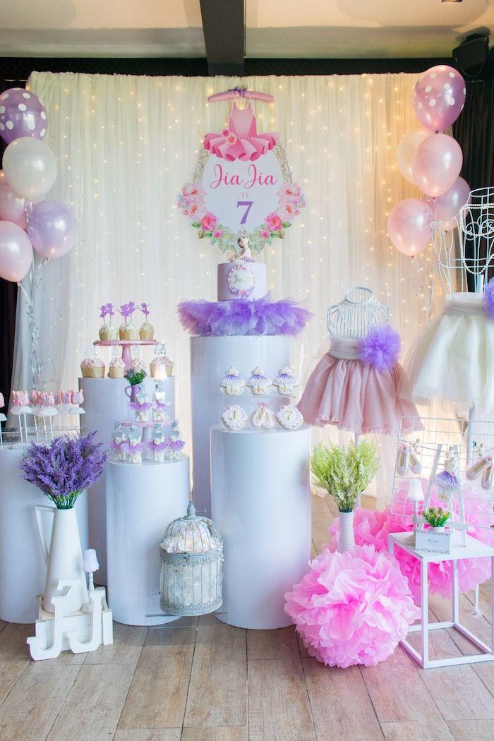 Ballerina Let S Dance Birthday Party Kara S Party Ideas Ballerina Birthday Parties Dance Birthday Party Ballerina Birthday