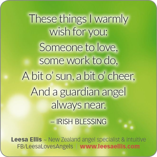 Here is a delightful Irish Blessing!