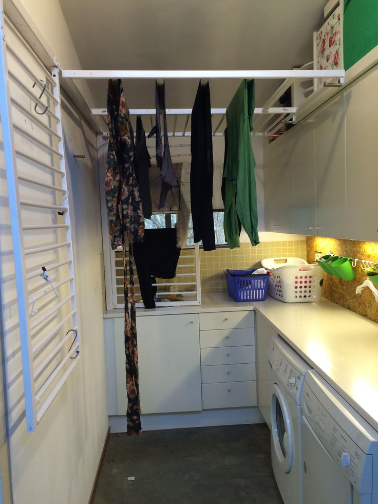 finished product: ikea baby bed everything for laundry room