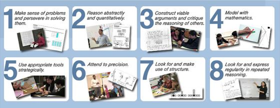 Common Core Mathematical Practices classroom video examples