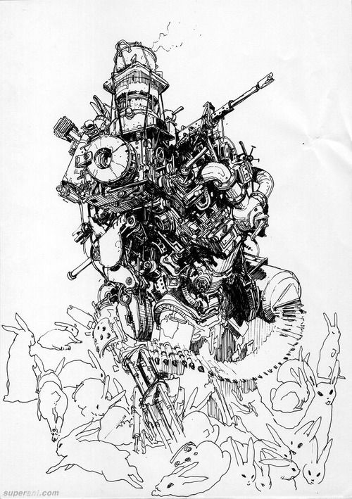 cyborg body drawing
