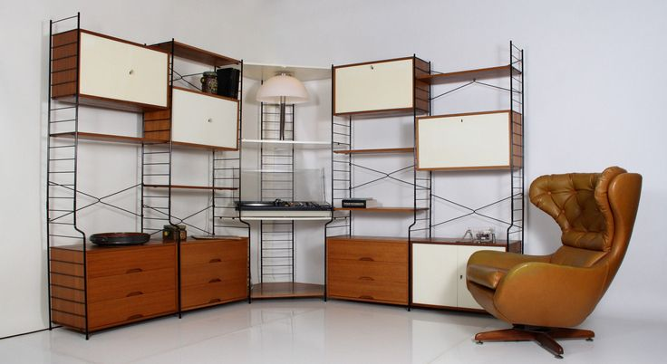 60er 70er whb string system regal teak shelving tag re scaffale estanteria a - Etagere string vintage ...