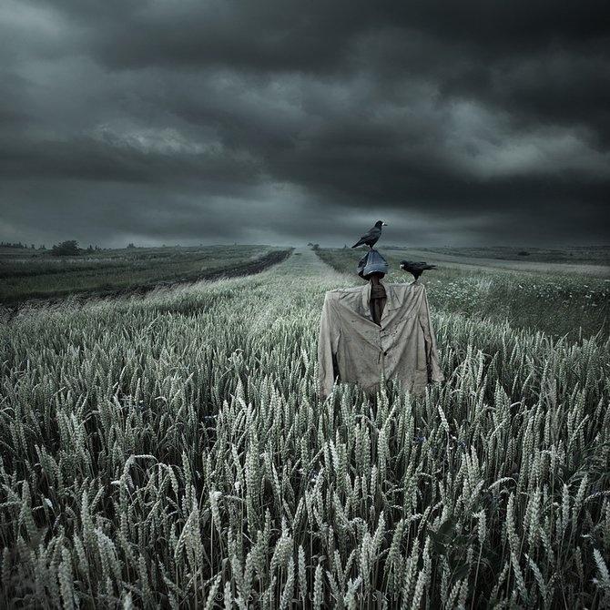 Foto I Risunki Art I Kreativnaya Reklama Surreal Photo Manipulation Scarecrow Photo