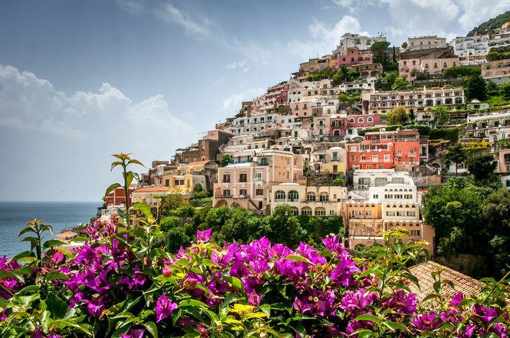 The town of Positano on the Amalfi Coast, Italy