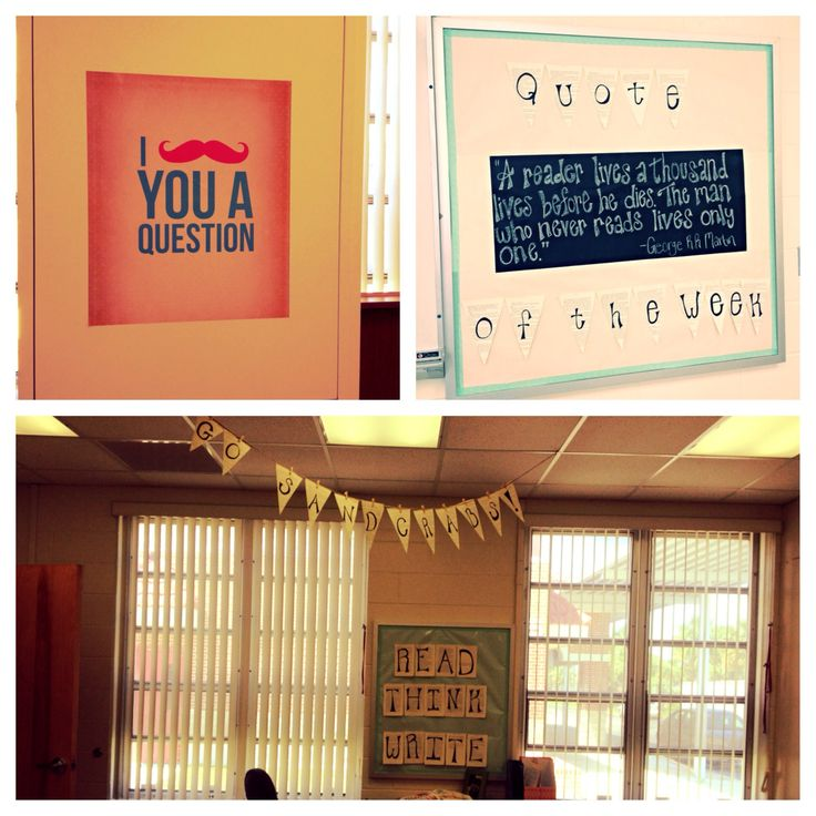 Classroom Banner Ideas : My high school english classroom complete with a quote