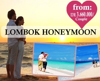 Romantic honeymoon in Lombok. Starting from IDR 3.660.000/Couple. Valid until 30 November 2013. For detail information, please contact Ezytravel at +6221 2316306 or visit our website: http://ezytravel.co.id
