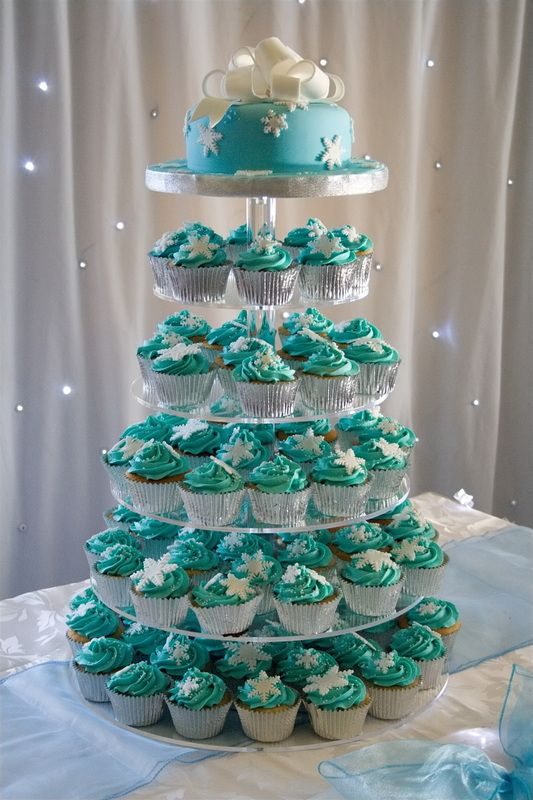 gallery for cupcakes for weddings blue