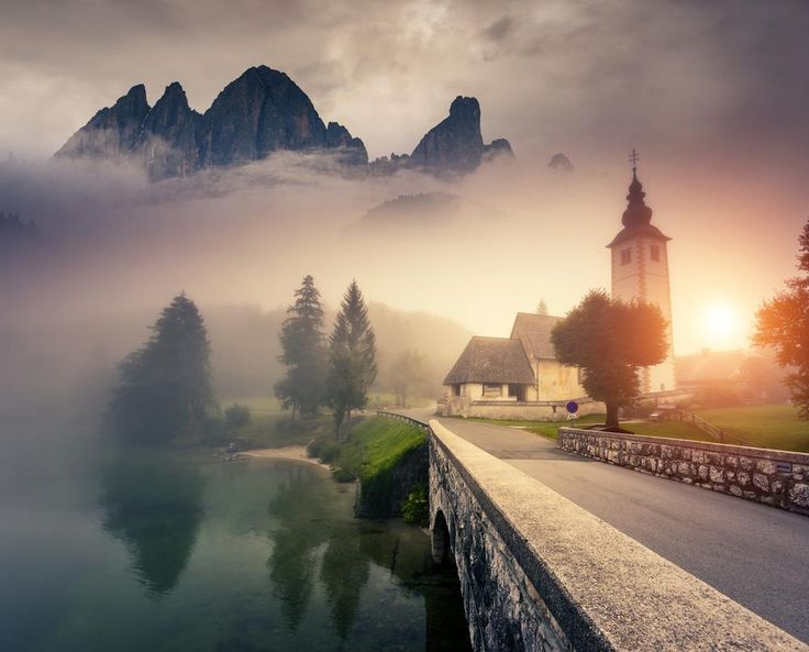 Majestic morning in the Triglav national park, located in the Bohinj Valley of the Julian Alps. Slovenia, Europe