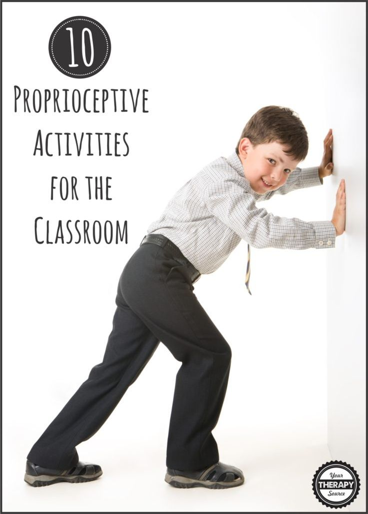 Proprioceptive Activities for the Classroom | Your Therapy Source. Pinned by SOS Inc. Resources pinterest.com/sostherapy/