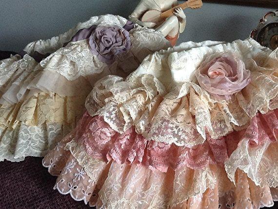 Wedding Flower Girl Custom Vintage Ruffled Lace by Babybonbons, $65.00