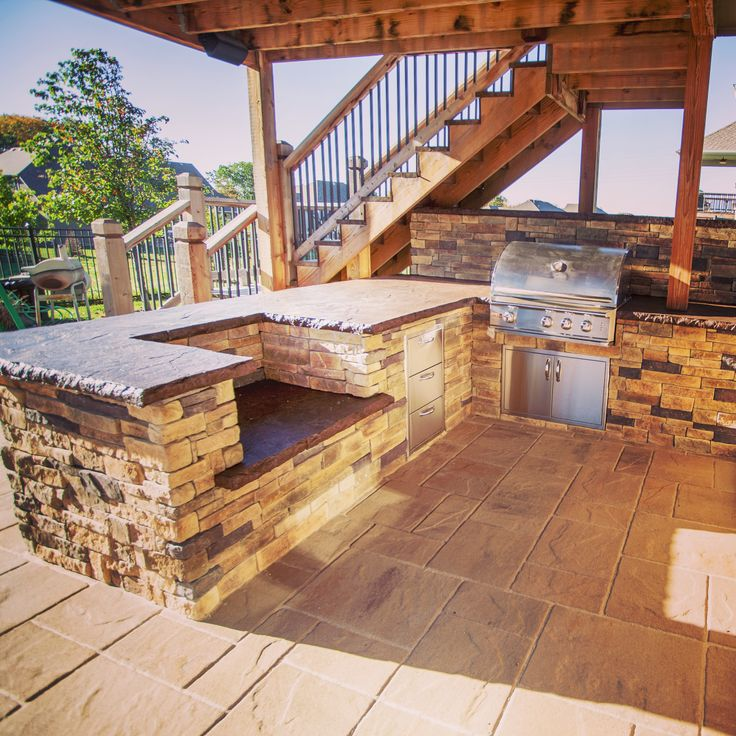 How Awesome Is Outdoor Kitchen?! This Would Be Great For Entertaining  Guests. #. Grill IslandStamped Concrete PatiosGrill ...