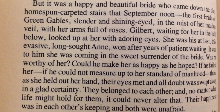 Anne of Green Gables- Gilbert and Anne's wedding