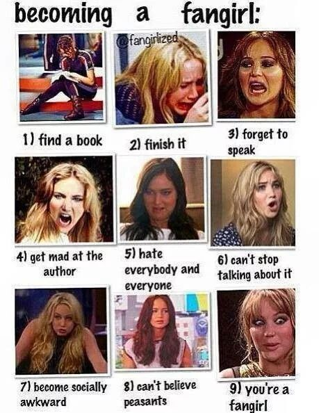 The Stages of Fangirling: as demonstrated by Jennifer Lawrence