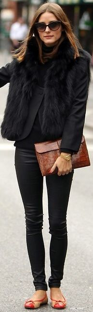 Invest in a gilet...it's the best thing to get you through winter. Fur/ faux fur ones always look the most chic.