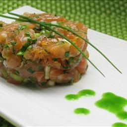 Asian Jade Buddha Salmon Tartare 1 Appetizer