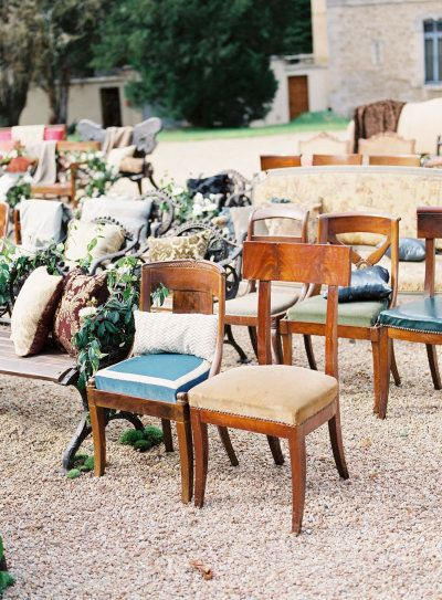 Unique wedding ceremony seating