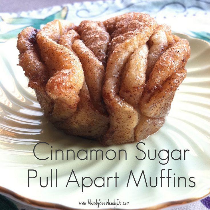 Cinnamon Pull Aparts: Cinnamon Sugar Pull Apart Muffins.