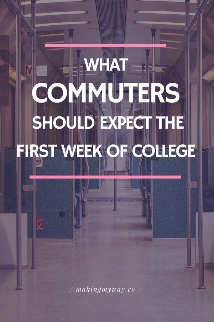 What Commuters Should Expect Their First Week of College