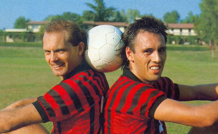 Ray Wilkins and  Mark Hateley of AC Milan, 1985-86