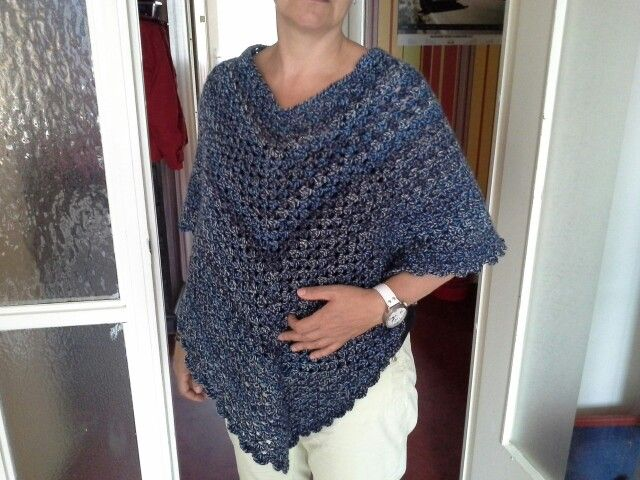 Gehaakte poncho