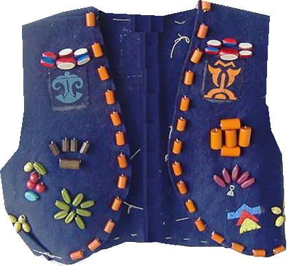 Campfire Girls of America | Camp Fire Girls - Vests  The beads adorned my cermonial gown ~