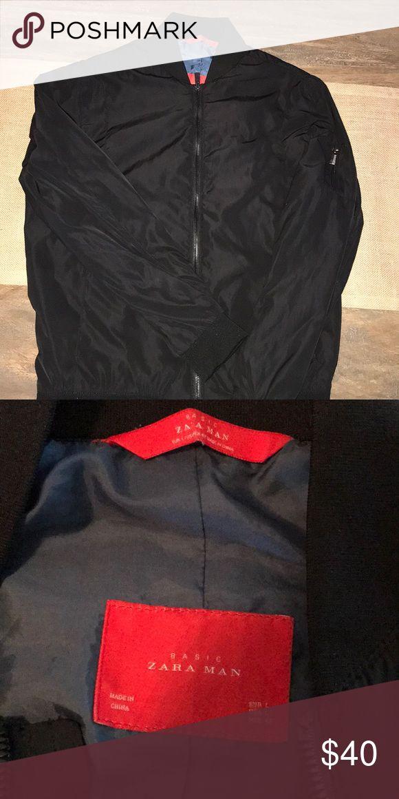 Zara man bomber jacket Black Zara bomber jacket Zara Jackets & Coats Bomber & Varsity
