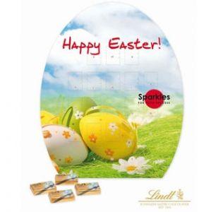 Promotional Easter Egg Shape Lindt chocolate calendar