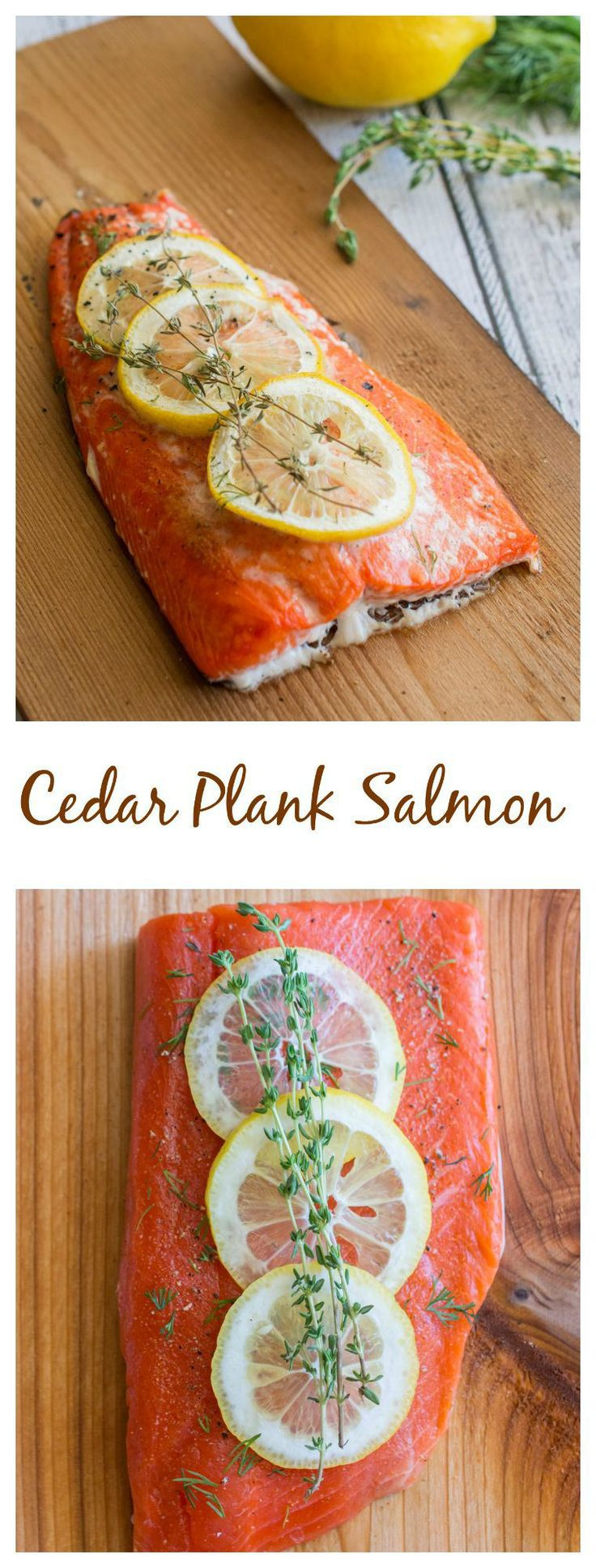 Cedar gives seafood such a great flavor. Click on my page to learn how to make Cedar Plank Salmon! Bonus tip: Soaking a cedar plank in beer or white wine gives it an even better flavor!