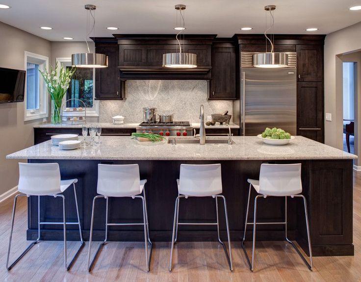 Best Dallas White Granite With Dark Cabinets Magnificent River 400 x 300