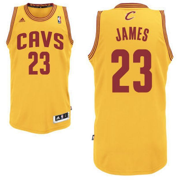 Maglia canotta NBA - LeBron James - Cleveland Cavaliers - Colore Giallo