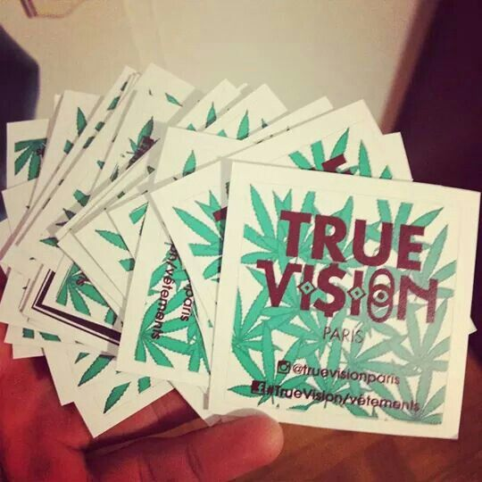Some weed stickers ? #TRUEVISION