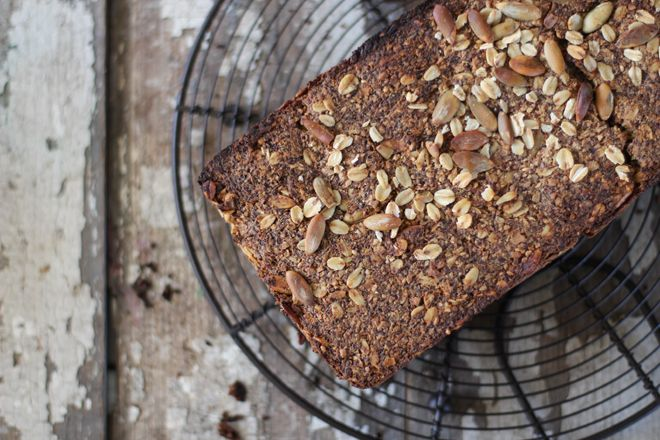 A gluten free bread that is nourishing. Nuts, seeds and oils instead of the nutrient-lacking rice and potato flours.