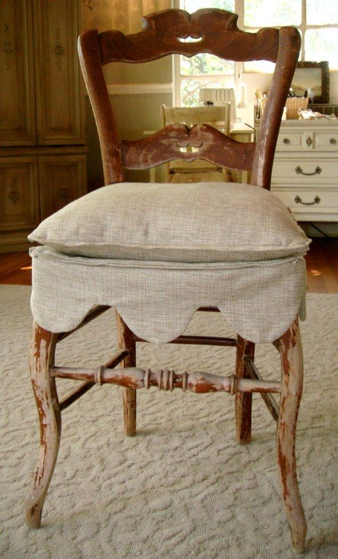 Slipcover for antique side chair